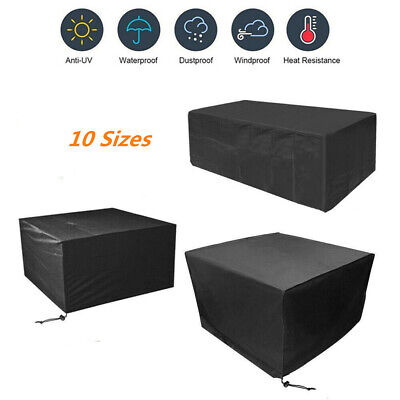 Garden Patio Furniture Set Rectangle Cover Outdoor Waterproof Rattan Cube Table