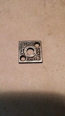 An Antique Eastlake Victorian Cast Iron Entry Thumbturn Key plate
