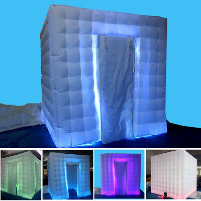 3M Inflatable LED Light Photo Booth Tent Birthday Wedding Party +Remote Control