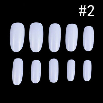 500pcs Oval Nails Tips Full Cover Acrylic False Nails For Nail Salons Nail Art