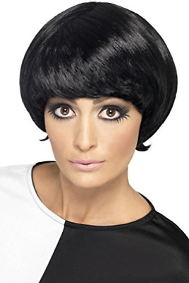 '60s Psychedelic Wig, Black, Short Bob  (US IMPORT)  AC NEW