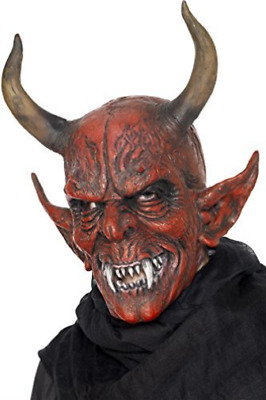 Devil Demon Mask, Red, Overhead, Latex  (US IMPORT)  AC NEW