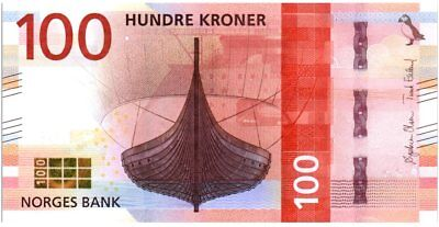 Norwegen 100 Kroner Viking ship 2016 (2017)