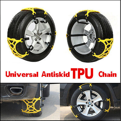 3Pcs Car Snow Tire Anti-skid Chains Safety Tire Chins Wheel Antiskid TPU Chains