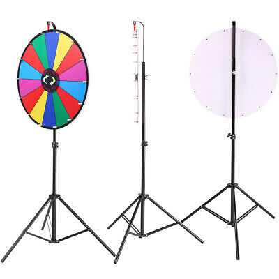 Tabletop Color Dry Erase Prize Wheel Fortune Spin Game Tradeshow 24""