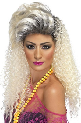 80s Bottle Wig, Blonde, Curly with Quiff  (US IMPORT)  AC NEW
