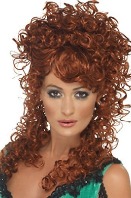Saloon Girl Wig, Auburn, Long and Curly  (US IMPORT)  AC NEW