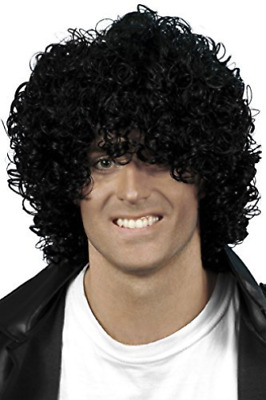 Afro Wet Look Wig, Black, Curly  (US IMPORT)  AC NEW