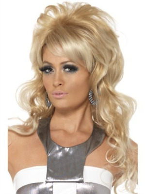 60s Beauty Queen Wig, Blonde, Long with Bouffant and Fringe  (US IMPORT)  AC NEW