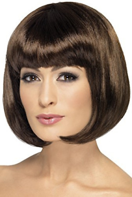 Partyrama Wig, 12 inch, Brown, Short Bob with Fringe  (US IMPORT)  AC NEW