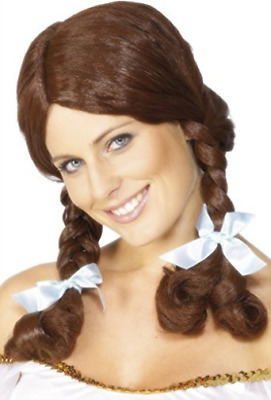 Country Girl Wig, Brown, Plaited  (US IMPORT)  AC NEW