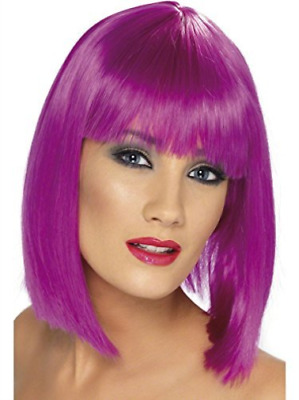 Glam Wig, Neon Purple, Short, Blunt with Fringe  (US IMPORT)  AC NEW