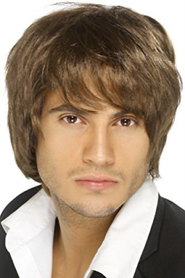 Boy Band Wig, Brown, Short Style  (US IMPORT)  AC NEW