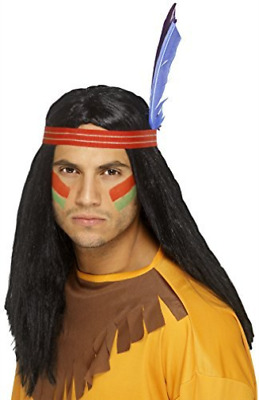 Native American Inspired Brave Wig, Black, Long, Straight, w (US IMPORT)  AC NEW