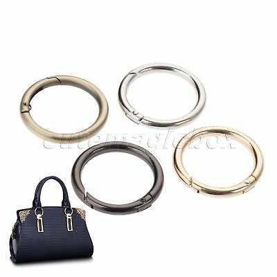 5pcs Luggage Sewing Bag Opening Ring Spring O Rings Belt Strap Dog Chain Buckles