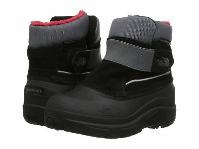 New Size 9 THE NORTH FACE TODDLER ALPENGLOW BOOTS SHOES TNF BLACK ZINC GREY RED