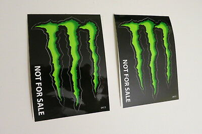 Monster Energy Drink DECAL STICKER 4 x 3 inches Lot of (2) Brand New Rare