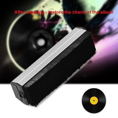 Portable Antistatic Dust Spots Cleaner Vinyl Record Clean Cleaning Brush Tool SP