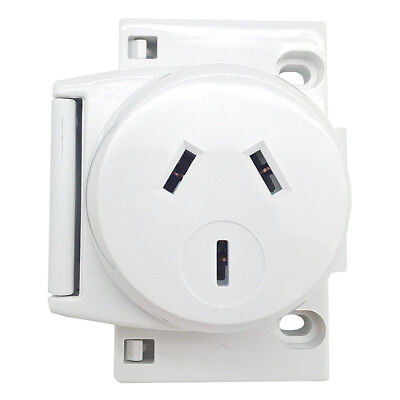 NEW 10 x Quick Connect Surface Socket Outlet Plug Base 250VAC 10 Amp - 3 Pin