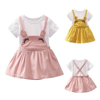 Toddler Baby Girls Summer Dress Princess Party Pageant Dresses Kids Clothes 0-3Y