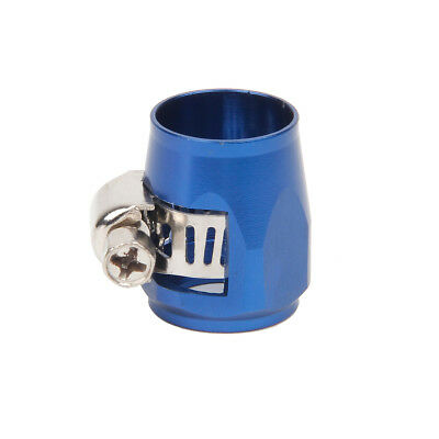 AN6 6 AN Blue Hose End Finisher Aluminium Alloy Fuel Oil Water Pipe Clamp Clip