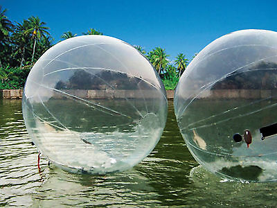 2M Inflatable Outdoor Water Walking Ball PVC German Zipper Zorb Ball Roll Toys +
