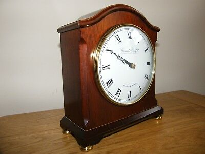 Superb condition clock by Comitti of London retailed by Garraeds Royal Jewellers
