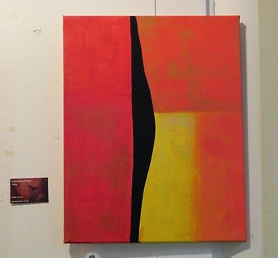 Original abstract acrylic painting - bold bright colours