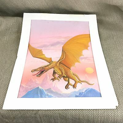 Original Illustration Book Artwork Dragon Fantasy Art Mythical