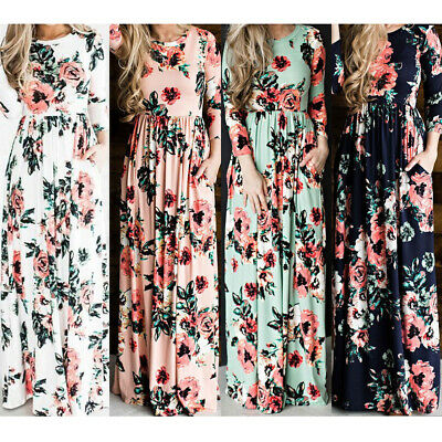 Plus Size S-4XL Womens Summer Holiday Floral Loose Tops T Shirt Party Mini Dress