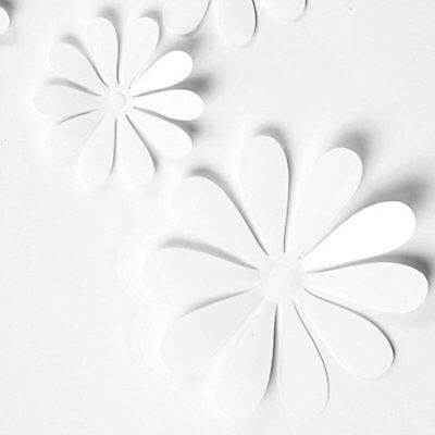 12Pcs 3D Flower Wall Sticker Simulation Art Decal Fridge Stickers Home Mural
