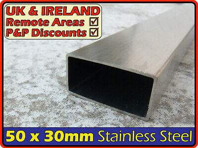 Stainless Steel Rectangular Tube ║ 50 x 30 mm ║ box section iron,profile,tubing