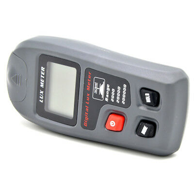 Light Meter Handheld Digital Illuminometer Lumen Tester 9V Range 0.01~20,000Fc
