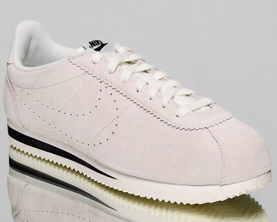 best sneakers 2817e 75bdf NIKE CLASSIC CORTEZ Suede Men Sail Sail Black Lifestyle Sneakers AA3108-100