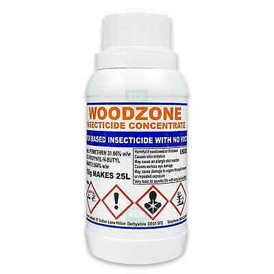 Woodzone Professional Woodworm Treatment Killer Preservative Spray Concentrate