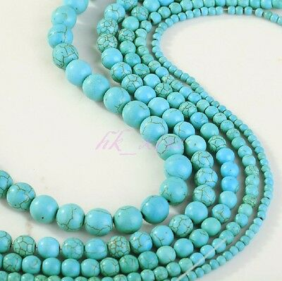 New ! 100% Real Natural Turquoise Gemstone Spacer Loose Beads Charms Jewelry