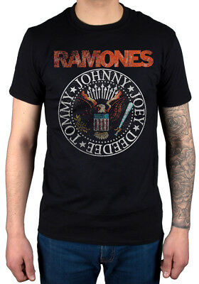 Official Ramones Vintage Eagle Seal T-Shirt Too Tough To Die Animal Boy Rock