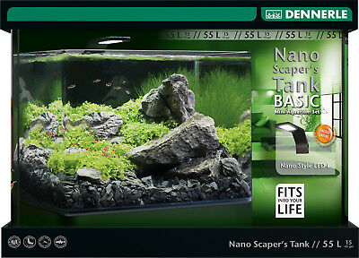 Dennerle Nano Scapers Tank Basic 55 Liter Sytle LED