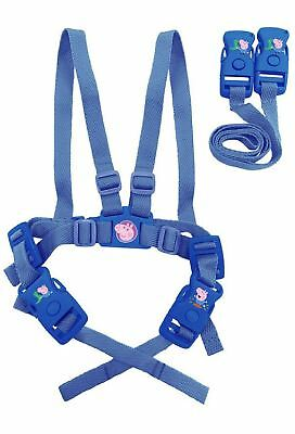 Baby Child Toddler Travel Safety Walking Harness and Reins George Pig Boys Blue
