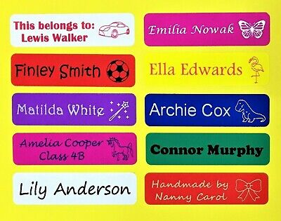 Waterproof stick on name labels / name tags/ lunchbox labels