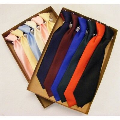 NEW Toddler / Boys Girl Pre-tied Elasticated Satin Tie - Party, Wedding, Special