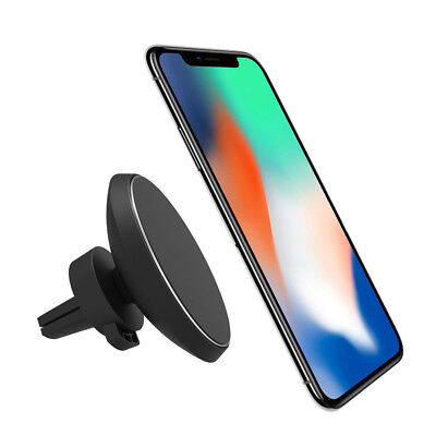 Magnetic 360 Rotating Mount Car Holder Charging Pad Qi Wireless Charger Dock ZL3