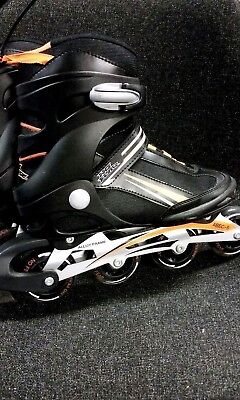 No Fear Alloy Frame Mens Fit Inline Skates UK 7 EU 40.5 Black Orange  New B312
