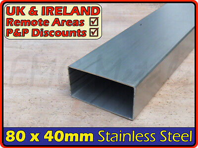 Stainless Steel Rectangular Tube ║ 80 x 40 mm ║ box section iron,profile,tubing