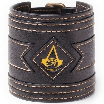 NEW OFFICIAL Assassin's Creed Origins Logo Boys Mens Wristband Wrist Band