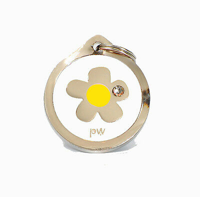 Quality Poochiwoochi Personalised Pet Dog Cat ID Collar Tags Discs FLOWER Design