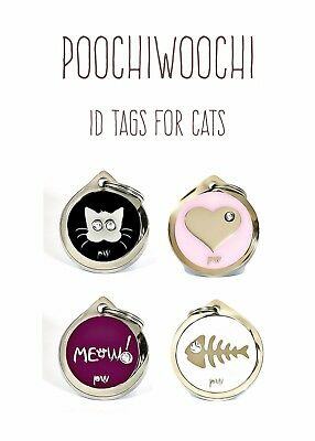 Personalised Pet Cat ID Tags Collar Name Identity Discs FREE UK DELIVERY