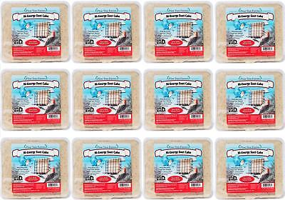 12 Pack Pine Tree Farms Hi-Energy Suet Cake 3 Pounds 1431 Made in USA
