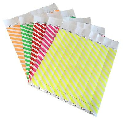 """1"""" Striped Tyvek Paper Wristbands Security Events School Party"""