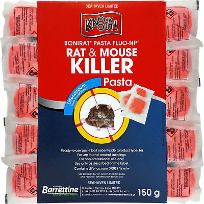 KNOCKOUT RAT & MOUSE KILLER PASTA POISON for Control of Rodents - Pro Quality